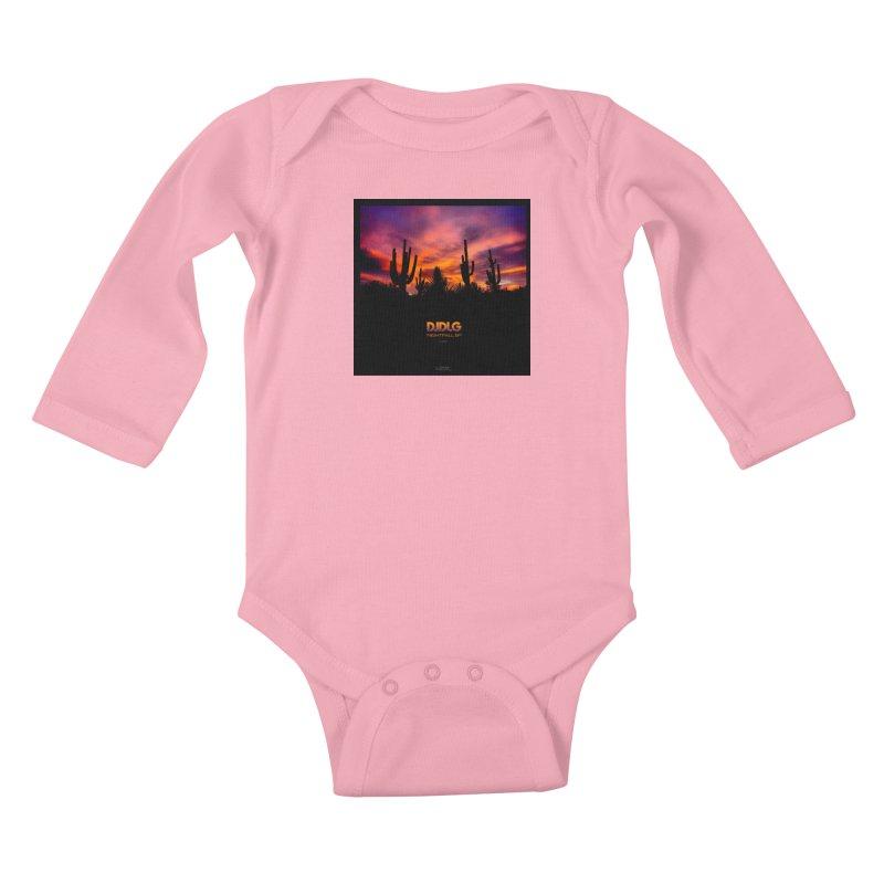 Nightfall EP (Cover Art) Kids Baby Longsleeve Bodysuit by Lazor Music Merchandise