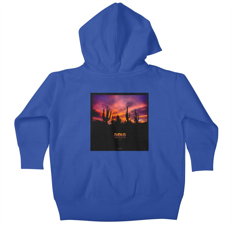 Nightfall EP (Cover Art) Kids Baby Zip-Up Hoody by Lazor Music Merchandise