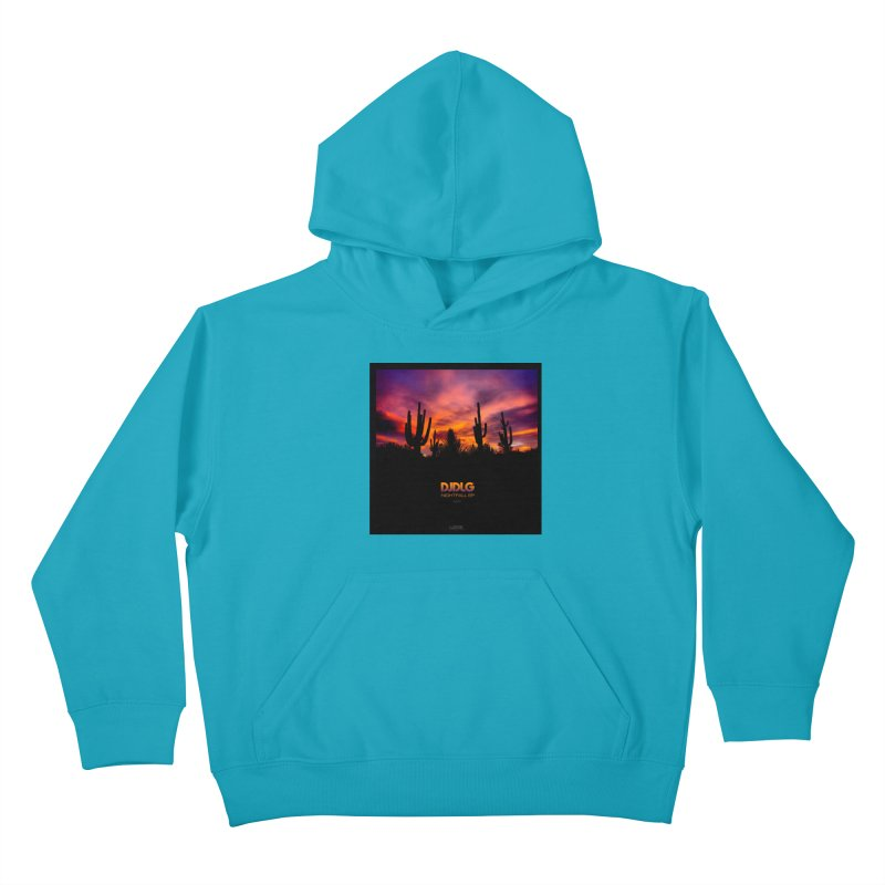 Nightfall EP (Cover Art) Kids Pullover Hoody by Lazor Music Merchandise