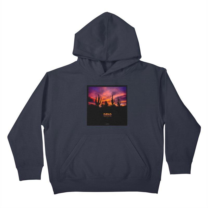 Nightfall EP (Cover Art) Kids Pullover Hoody by Lazor Music Merchandise