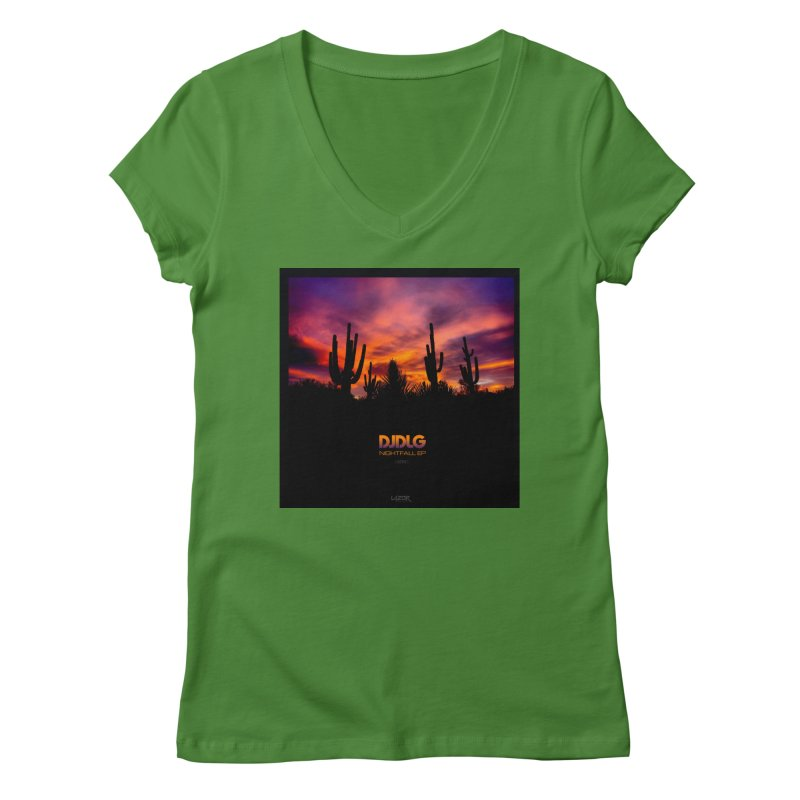 Nightfall EP (Cover Art) Women's V-Neck by Lazor Music Merchandise