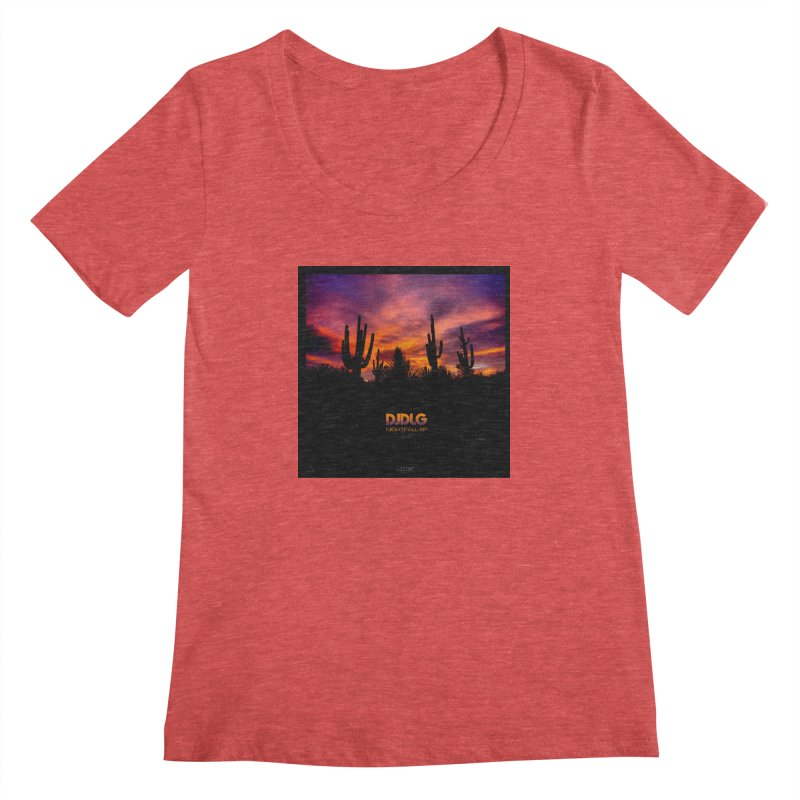 Nightfall EP (Cover Art) Women's Scoopneck by Lazor Music Merchandise