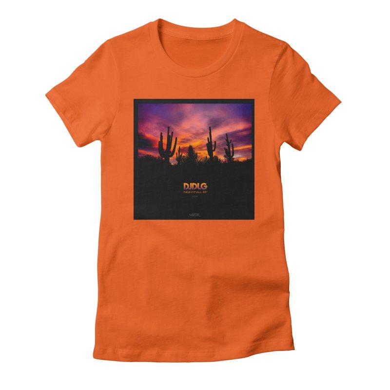 Nightfall EP (Cover Art) Women's Fitted T-Shirt by Lazor Music Merchandise
