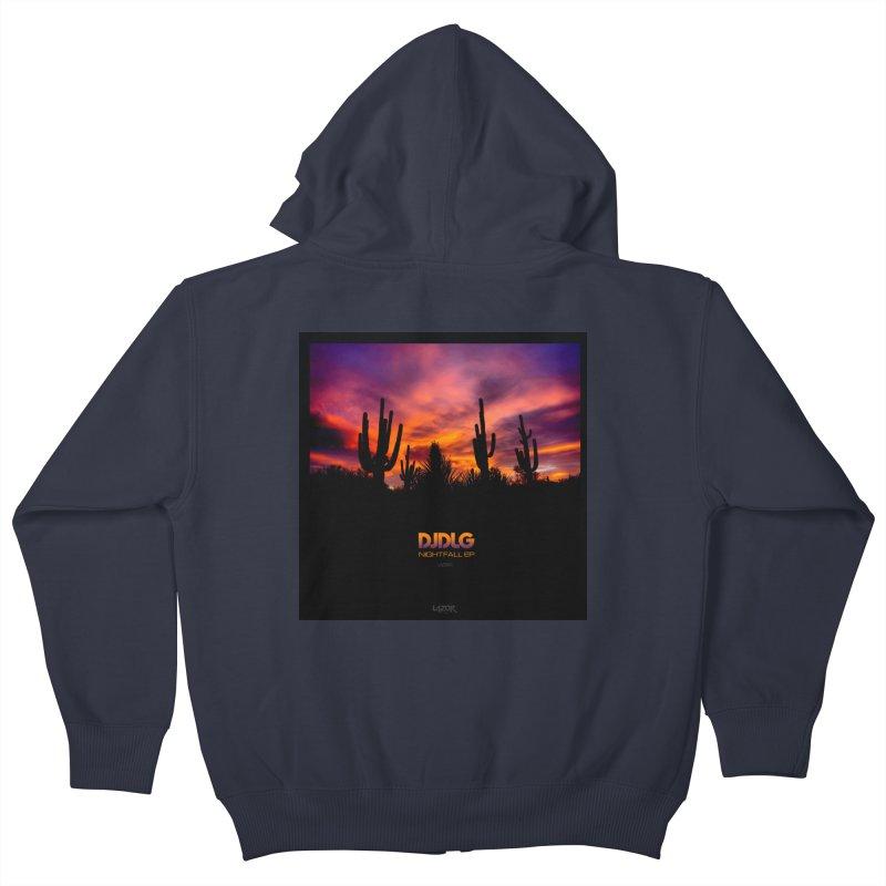 Nightfall EP (Cover Art) Kids Zip-Up Hoody by Lazor Music Merchandise