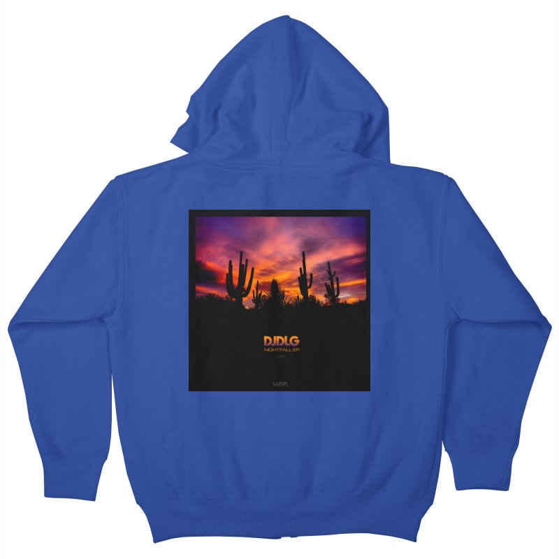 Nightfall EP (Cover Art) Kids Zip-Up Hoody by Lazor Music Merchandise