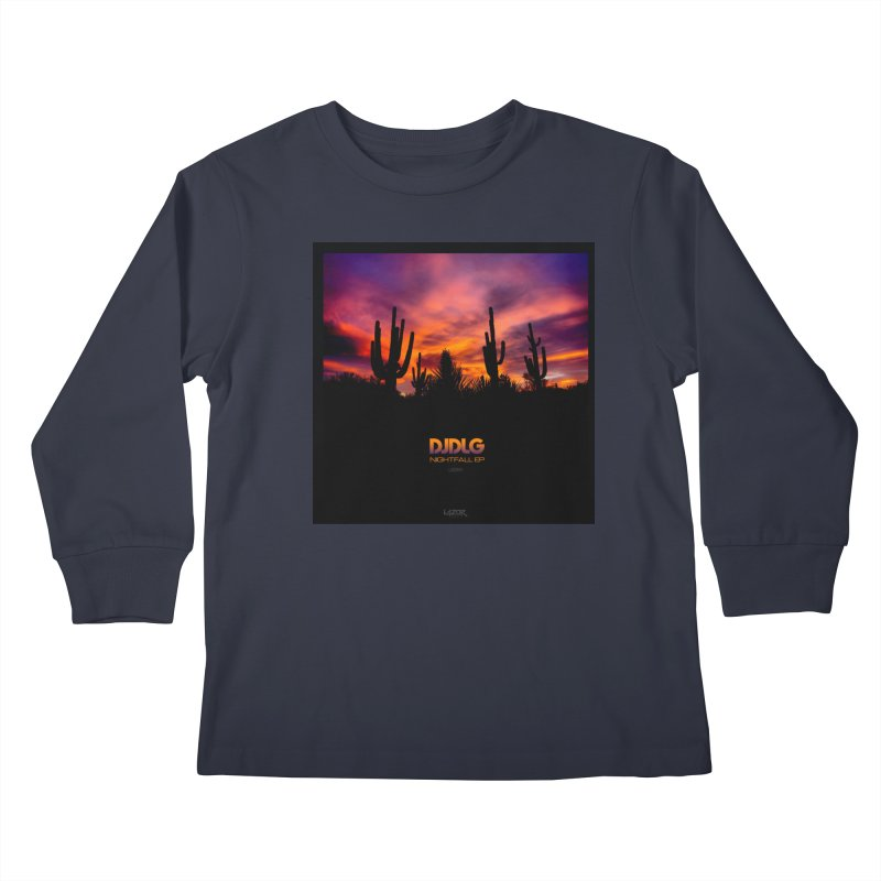 Nightfall EP (Cover Art) Kids Longsleeve T-Shirt by Lazor Music Merchandise