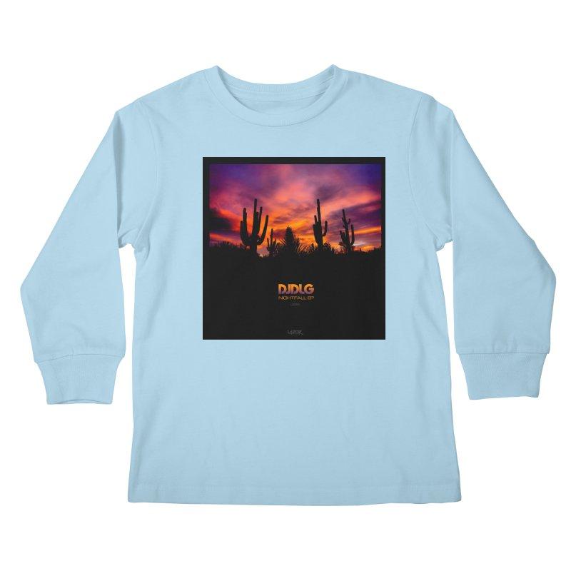 Nightfall EP (Cover Art) Kids Longsleeve T-Shirt by Lazor Music Merchandise
