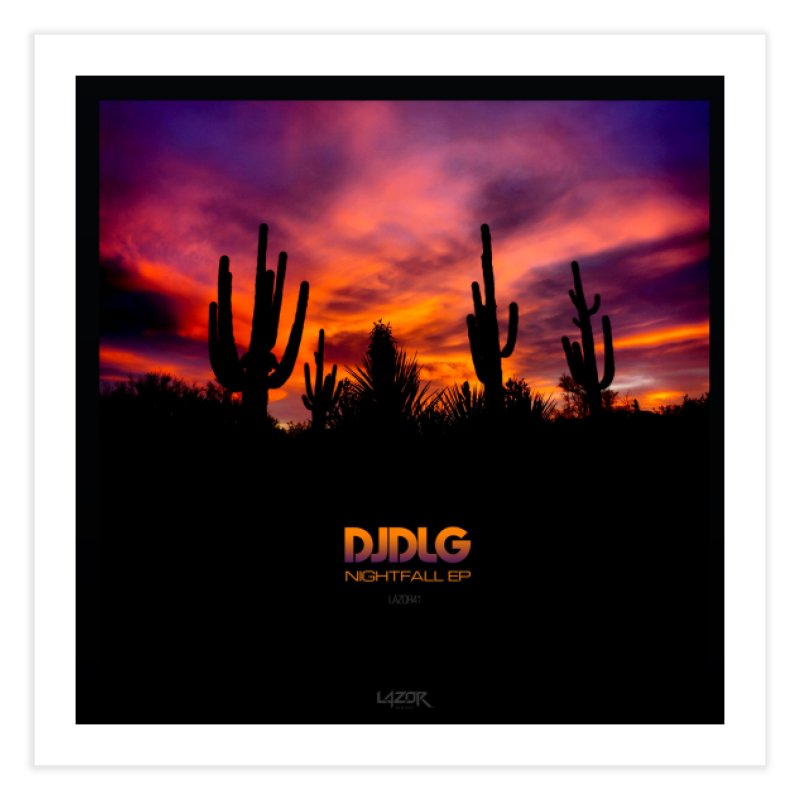 Nightfall EP (Cover Art) Home Fine Art Print by Lazor Music Merchandise