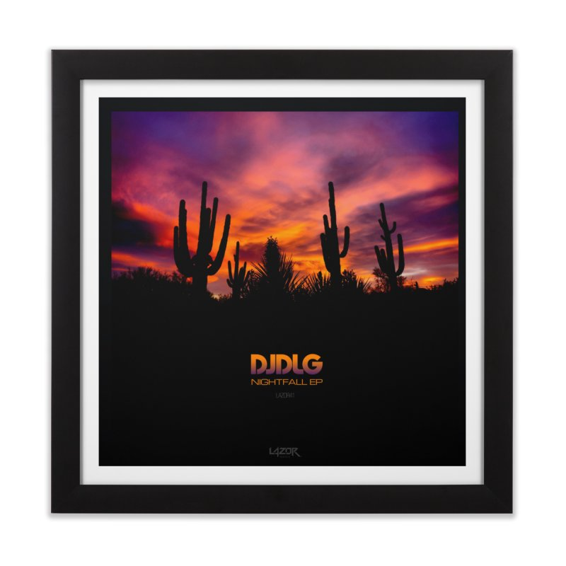 Nightfall EP (Cover Art) Home Framed Fine Art Print by Lazor Music Merchandise