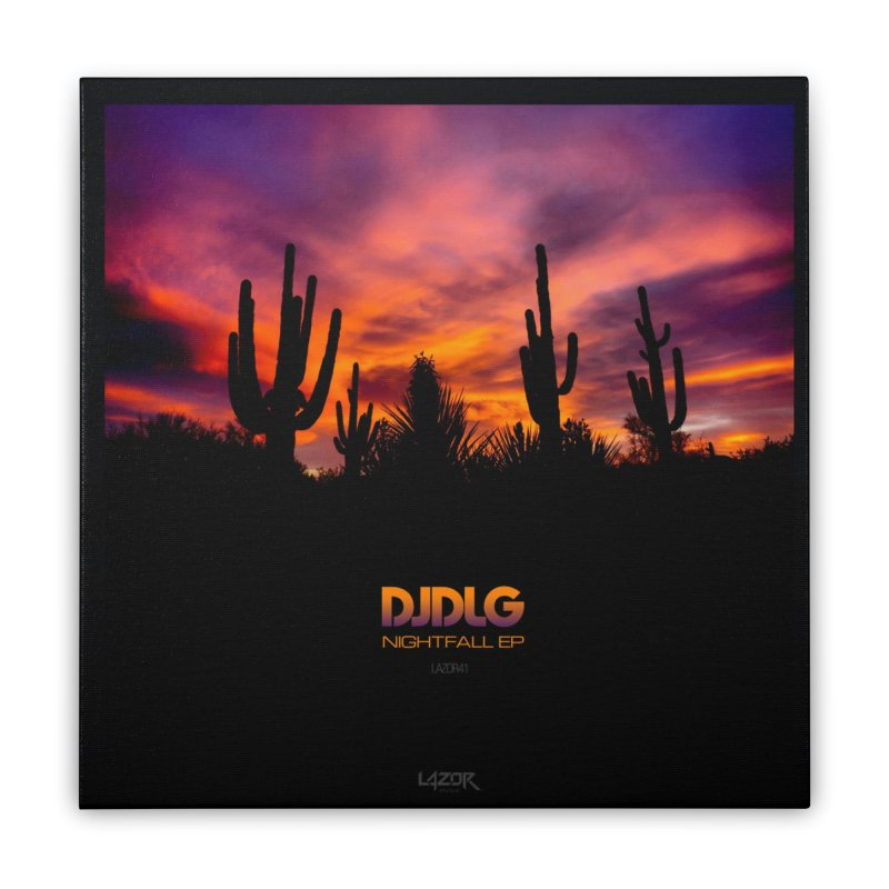 Nightfall EP (Cover Art) Home Stretched Canvas by Lazor Music Merchandise