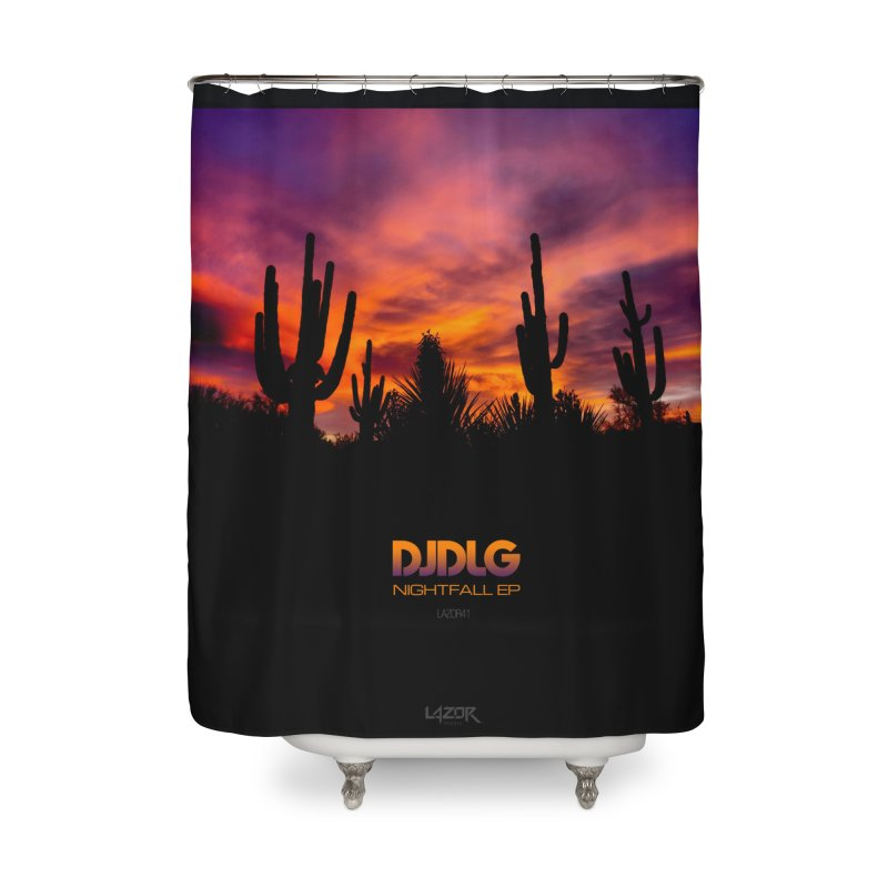 Nightfall EP (Cover Art) Home Shower Curtain by Lazor Music Merchandise