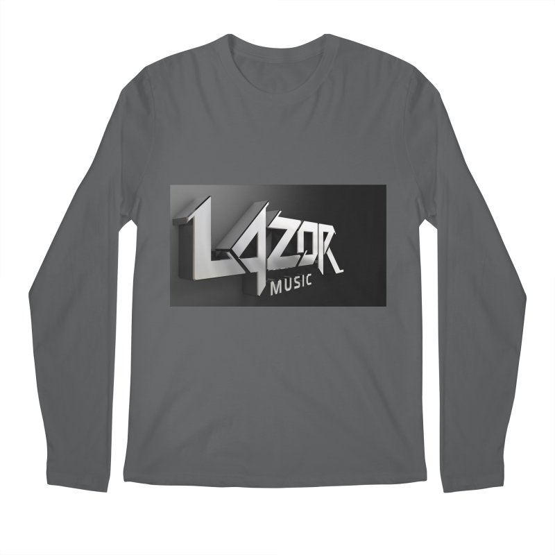 3D Lazor Logo Men's Longsleeve T-Shirt by Lazor Music Merchandise