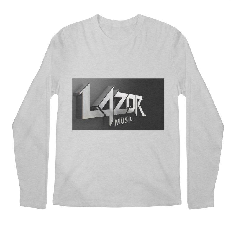 3D Lazor Logo Men's Longsleeve T-Shirt by Lazor Music Merchandise