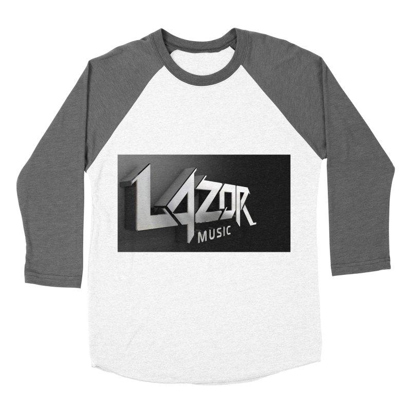 3D Lazor Logo Women's Baseball Triblend T-Shirt by Lazor Music Merchandise