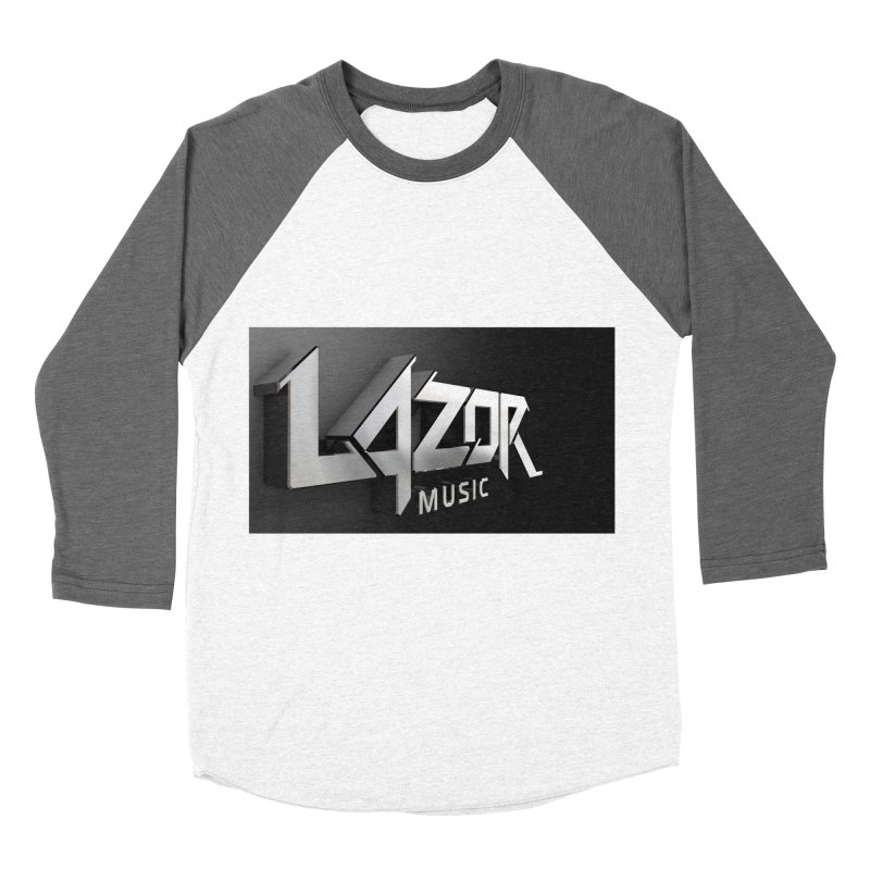 3D Lazor Logo Men's Baseball Triblend T-Shirt by Lazor Music Merchandise