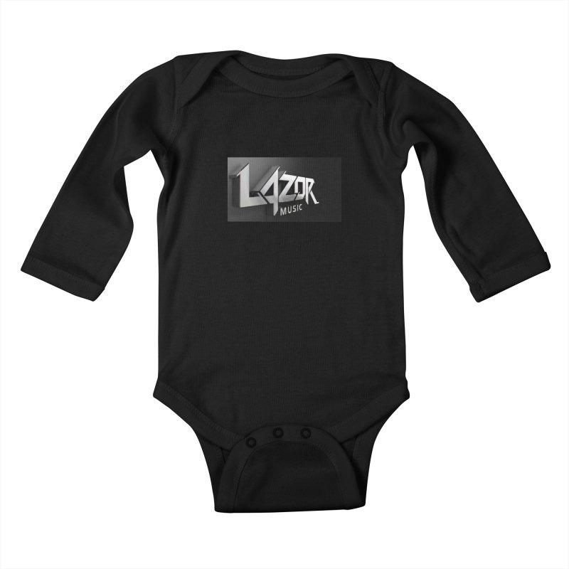 3D Lazor Logo Kids Baby Longsleeve Bodysuit by Lazor Music Merchandise