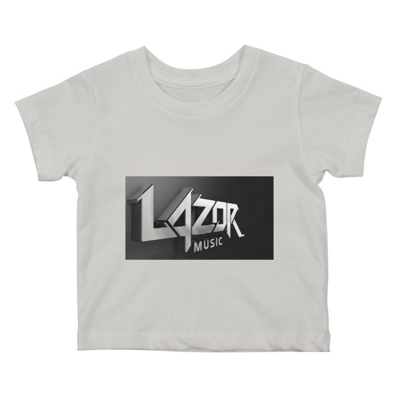 3D Lazor Logo Kids Baby T-Shirt by Lazor Music Merchandise