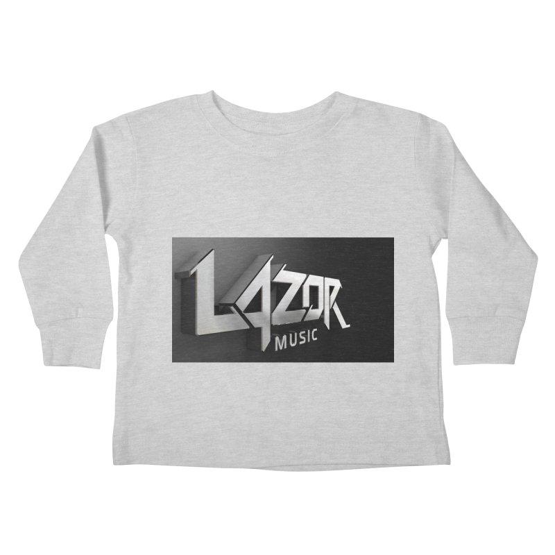 3D Lazor Logo Kids Toddler Longsleeve T-Shirt by Lazor Music Merchandise