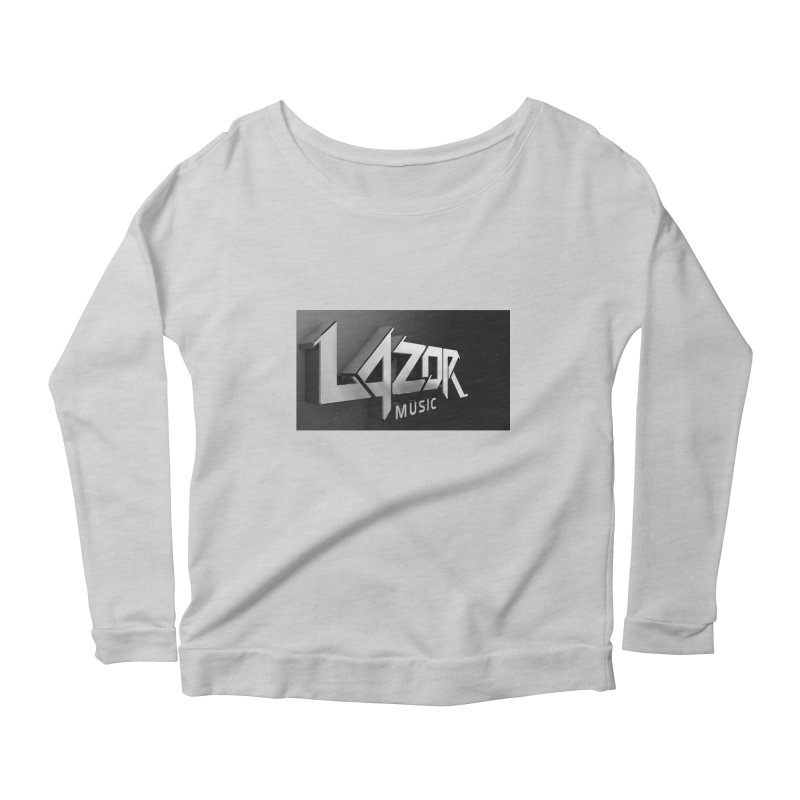 3D Lazor Logo Women's Longsleeve Scoopneck  by Lazor Music Merchandise