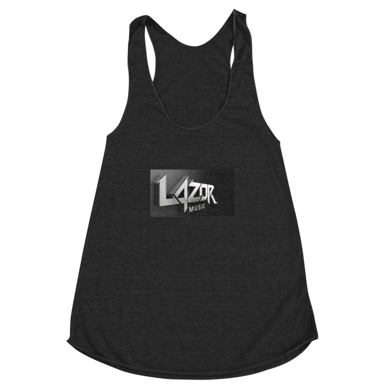 3D Lazor Logo Women's Racerback Triblend Tank by Lazor Music Merchandise