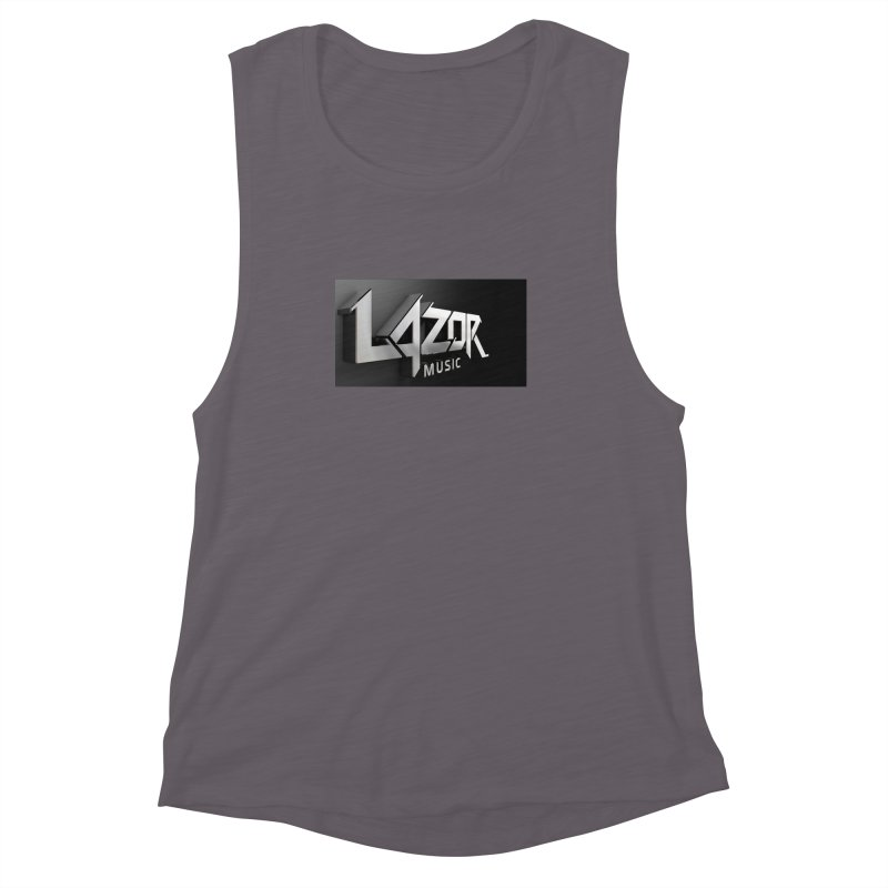 3D Lazor Logo Women's Muscle Tank by Lazor Music Merchandise