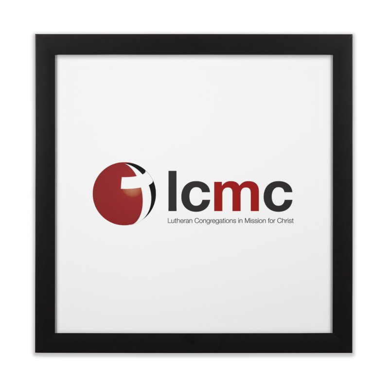 LCMC Logo (Light Color Collection) in Framed Fine Art Print Black by LCMC Store