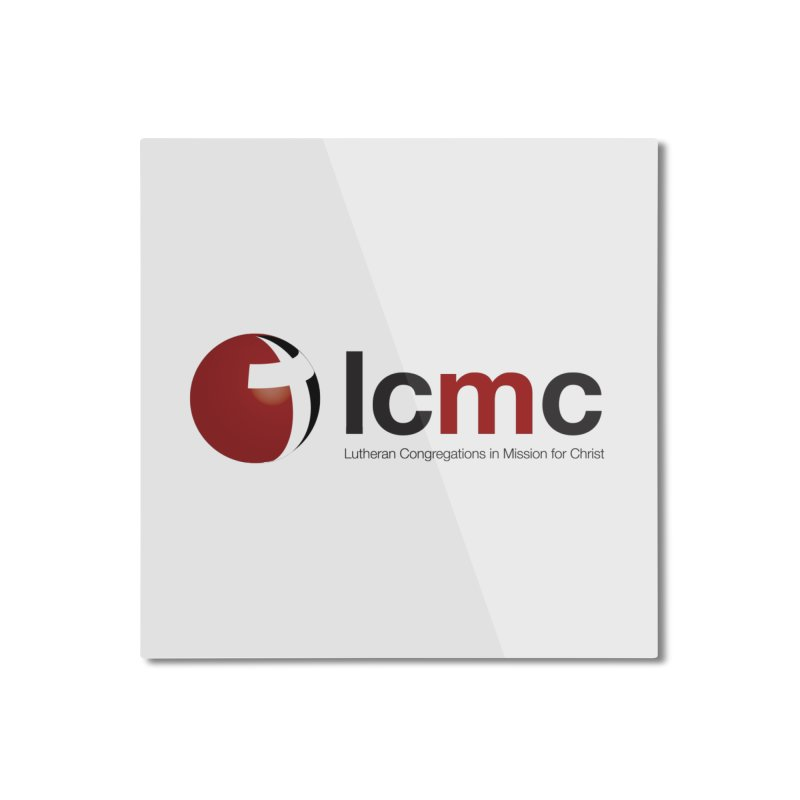 LCMC Logo (Light Color Collection) Home Mounted Aluminum Print by LCMC Store