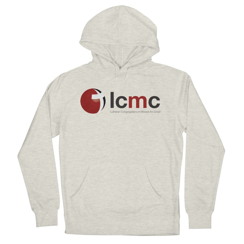 LCMC Logo (Light Color Collection) in Women's Pullover Hoody Heather Oatmeal by LCMC Store