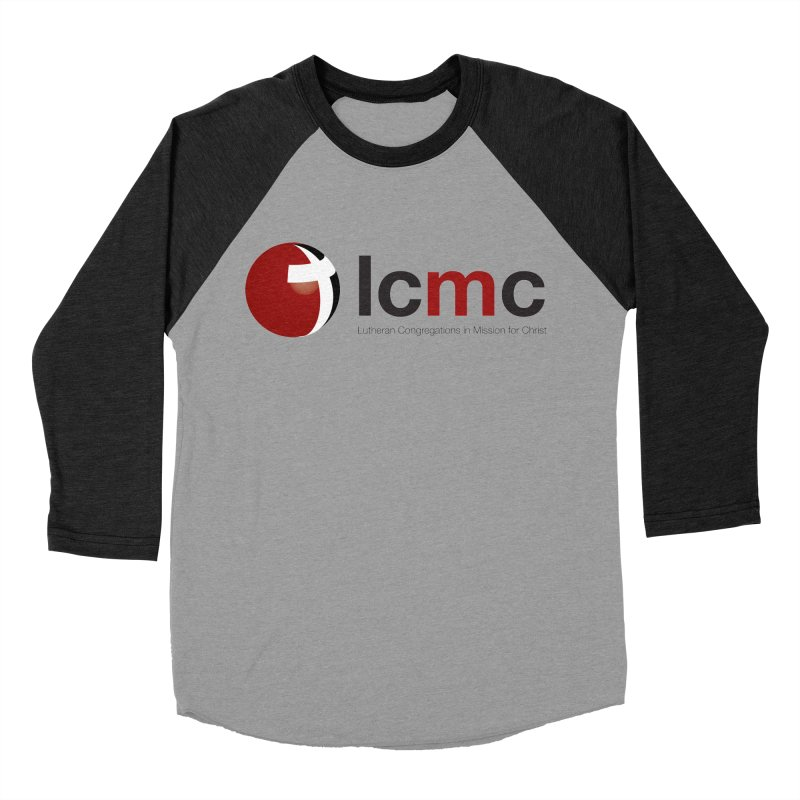 LCMC Logo (Light Color Collection) in Men's Baseball Triblend T-Shirt Heather Onyx Sleeves by LCMC Store