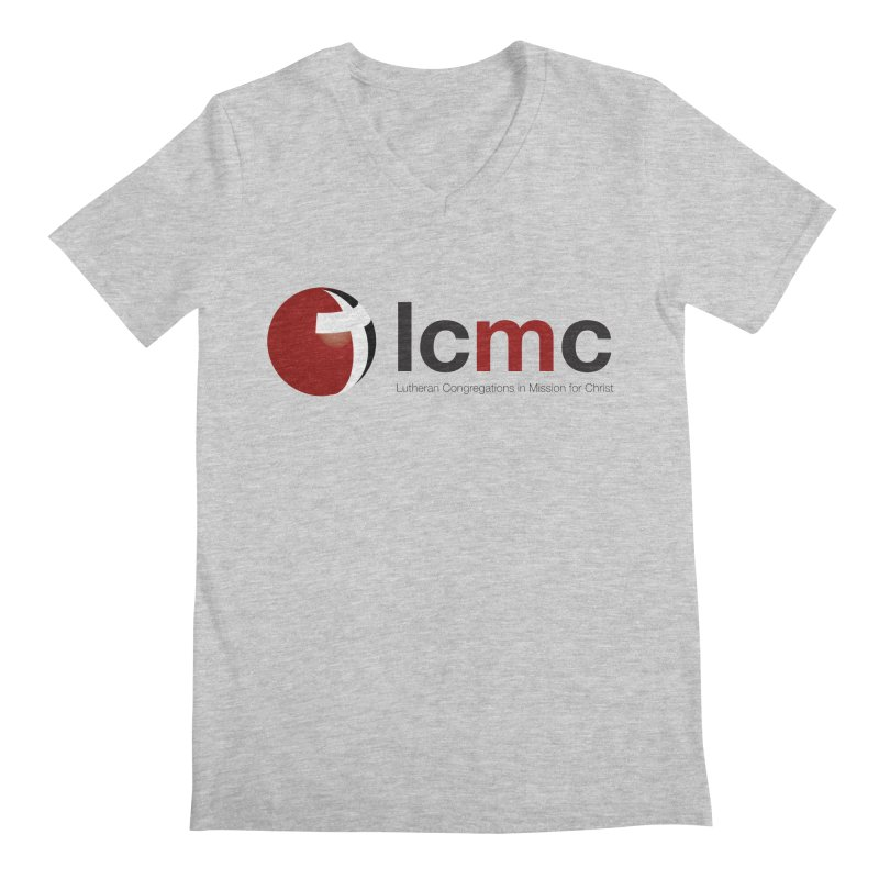 LCMC Logo (Light Color Collection) Men's Regular V-Neck by LCMC Store