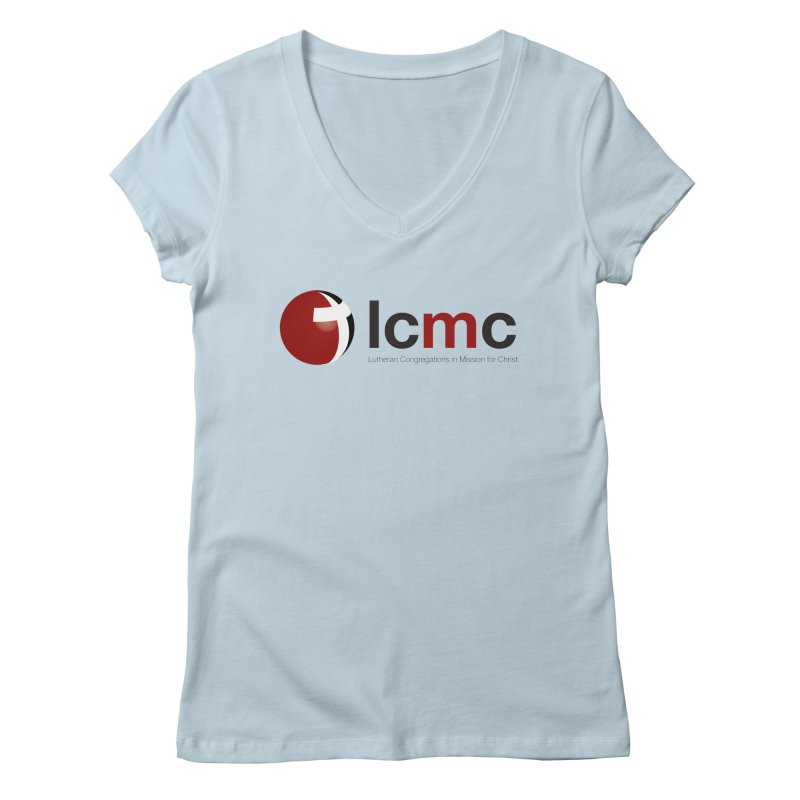 LCMC Logo (Light Color Collection) Women's Regular V-Neck by LCMC Store