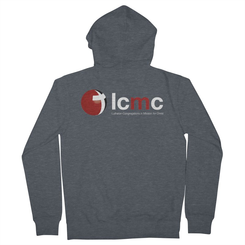 LCMC Logo (Dark Color Collection) Men's French Terry Zip-Up Hoody by LCMC Store