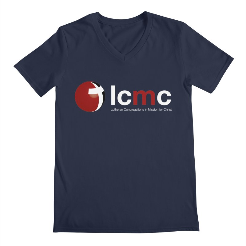 LCMC Logo (Dark Color Collection) Men's V-Neck by LCMC Store