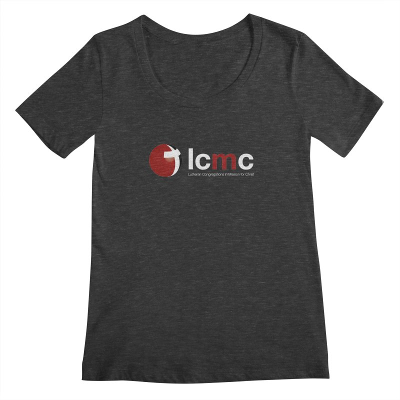 LCMC Logo (Dark Color Collection) Women's Scoopneck by LCMC Store