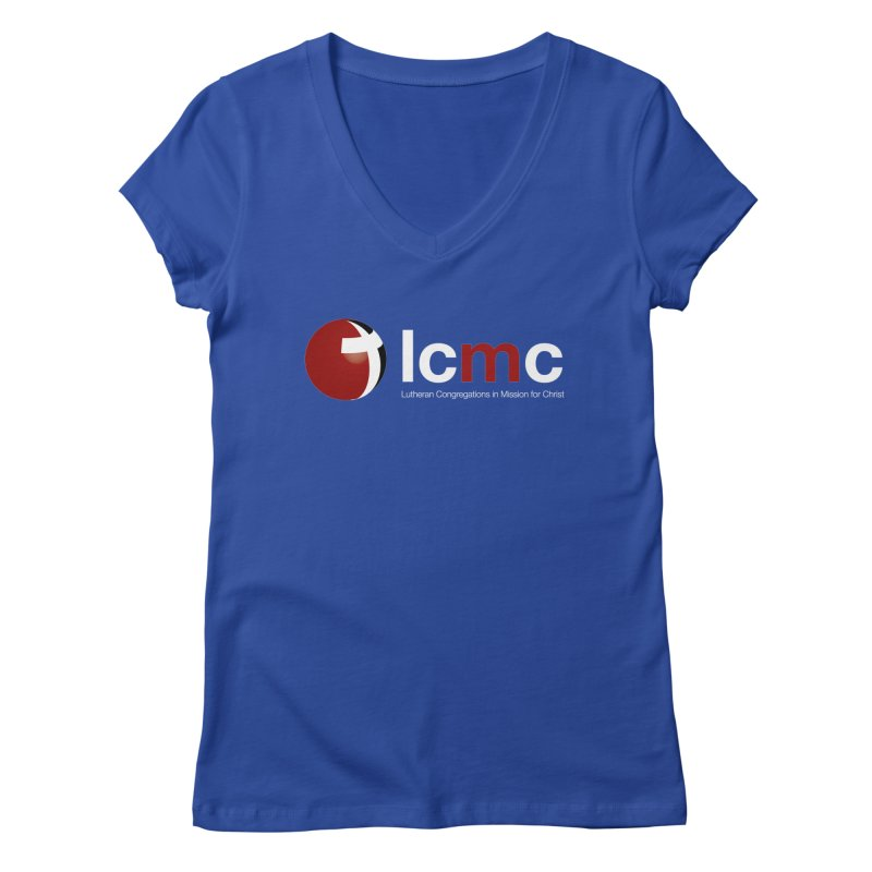 LCMC Logo (Dark Color Collection) Women's Regular V-Neck by LCMC Store