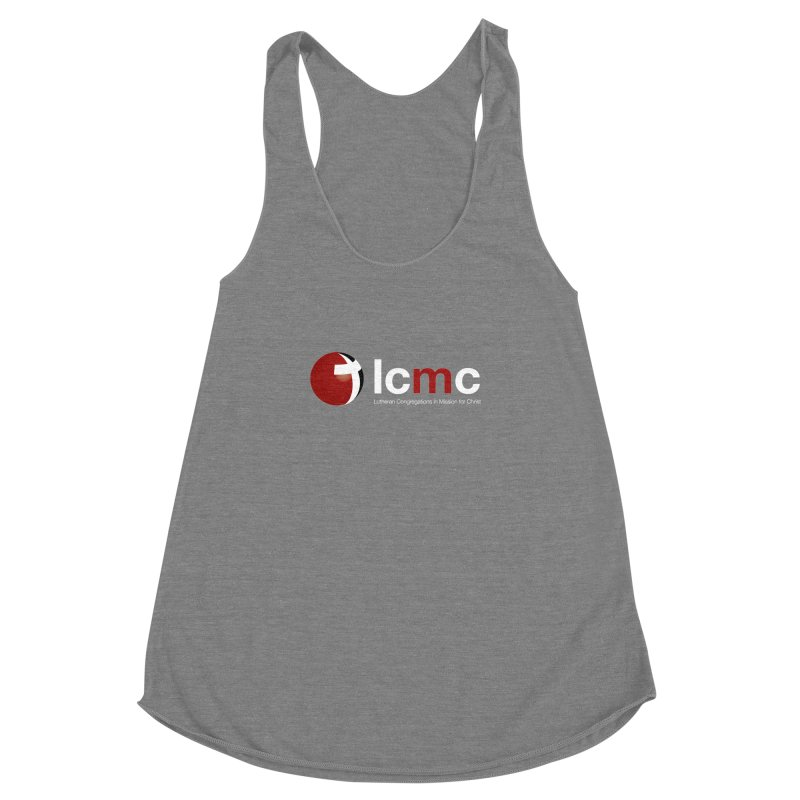 LCMC Logo (Dark Color Collection) Women's Racerback Triblend Tank by LCMC Store