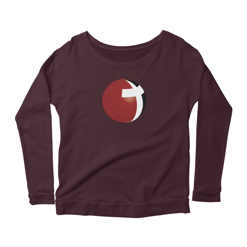 Graphic Only Collection Women's Longsleeve Scoopneck  by LCMC Store