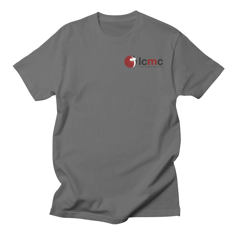 Small Logo Collection (Light Colors) in Men's Regular T-Shirt Asphalt by LCMC Store