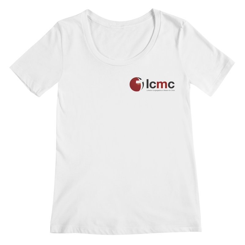 Small Logo Collection (Light Colors) Women's Scoopneck by LCMC Store