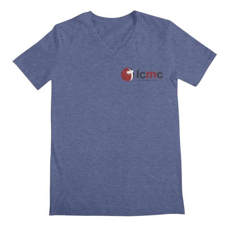 Small Logo Collection (Light Colors) Men's Regular V-Neck by LCMC Store