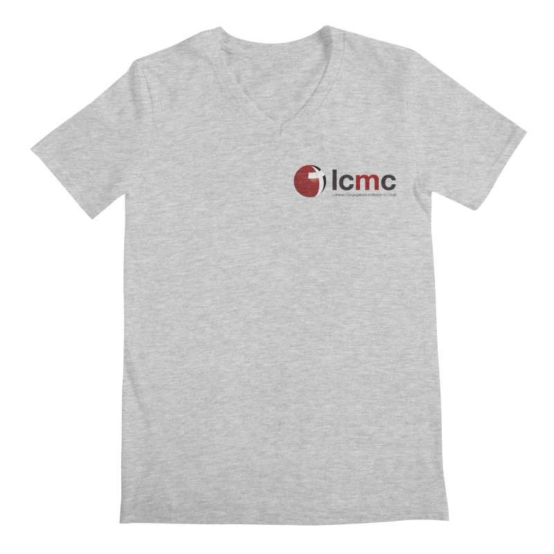 Small Logo Collection (Light Colors) Men's V-Neck by LCMC Store