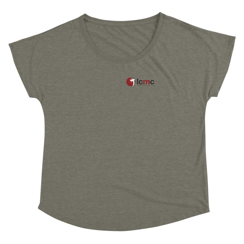 Small Logo Collection (Light Colors) Women's Dolman Scoop Neck by LCMC Store