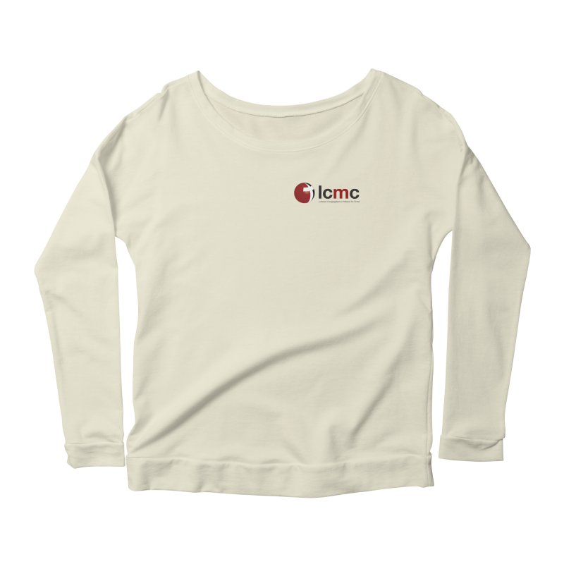 Small Logo Collection (Light Colors) Women's Scoop Neck Longsleeve T-Shirt by LCMC Store