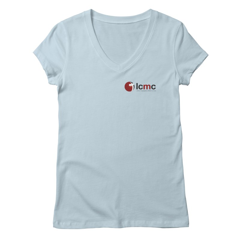 Small Logo Collection (Light Colors) Women's V-Neck by LCMC Store