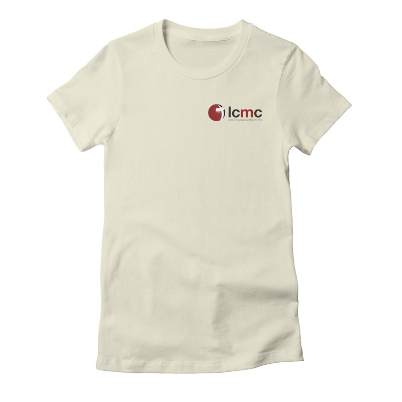 Small Logo Collection (Light Colors) Women's Fitted T-Shirt by LCMC Store
