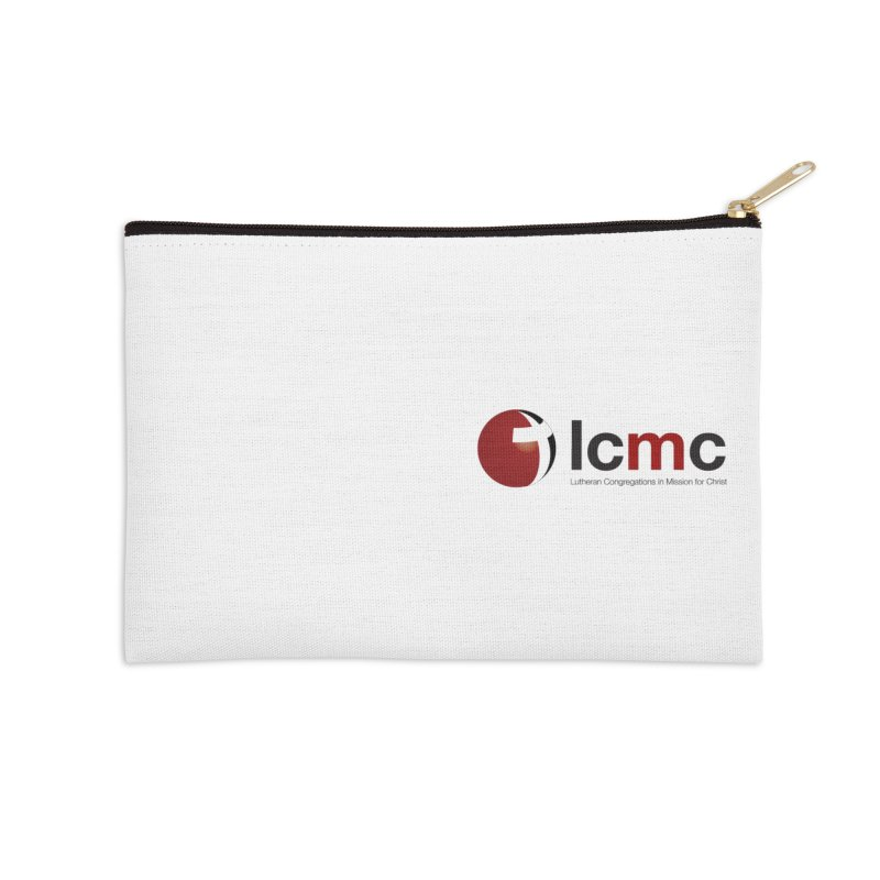Small Logo Collection (Light Colors) Accessories Zip Pouch by LCMC Store