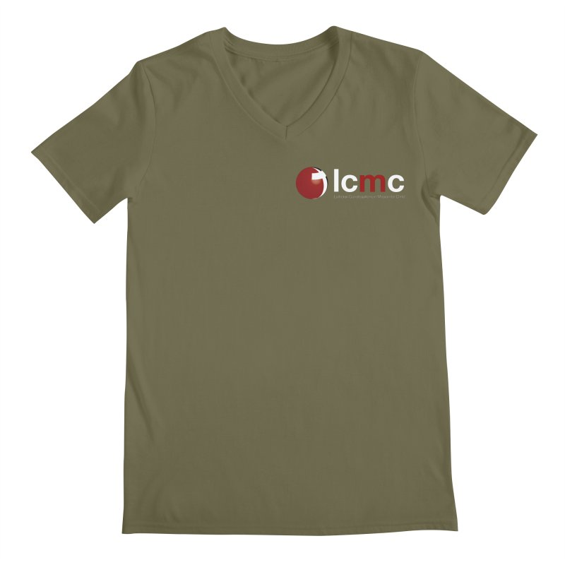 Small Logo Collection (Dark Colors) Men's Regular V-Neck by LCMC Store