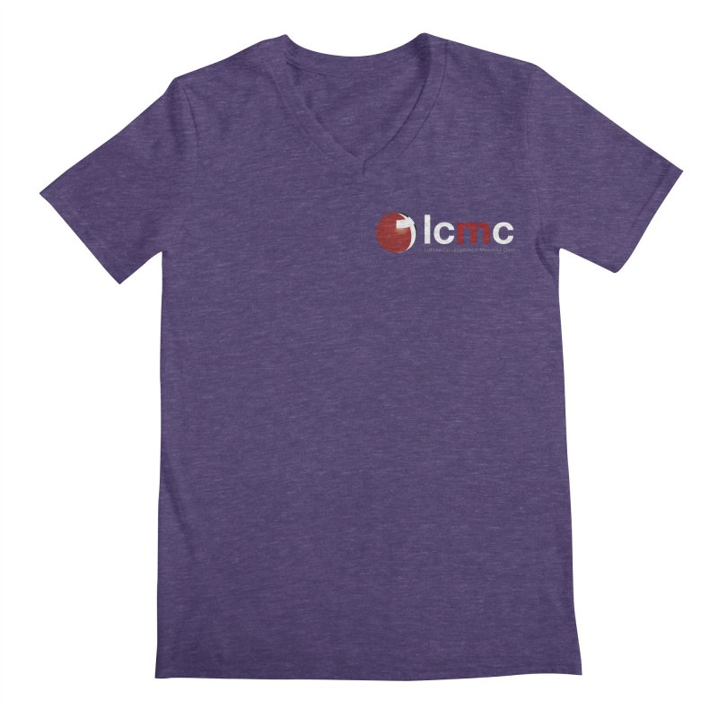 Small Logo Collection (Dark Colors) Men's V-Neck by LCMC Store