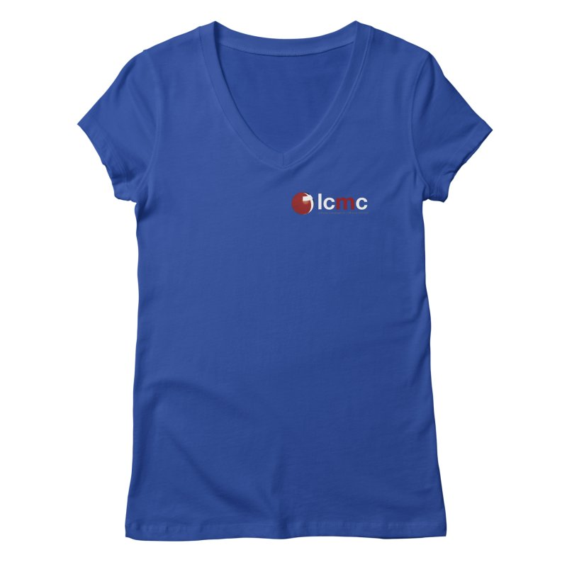 Small Logo Collection (Dark Colors) Women's Regular V-Neck by LCMC Store