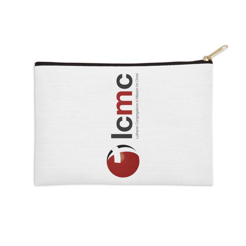 Vertical Logo Collection Accessories Zip Pouch by LCMC Store